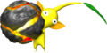 Yellow Pikmin with bomb-rock - Pikmin.png